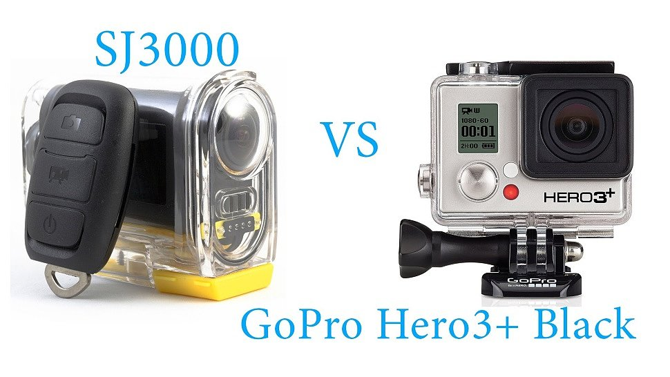 Экшн камера SJ3000 vs GoPro Hero3+ Black Edition сравнение