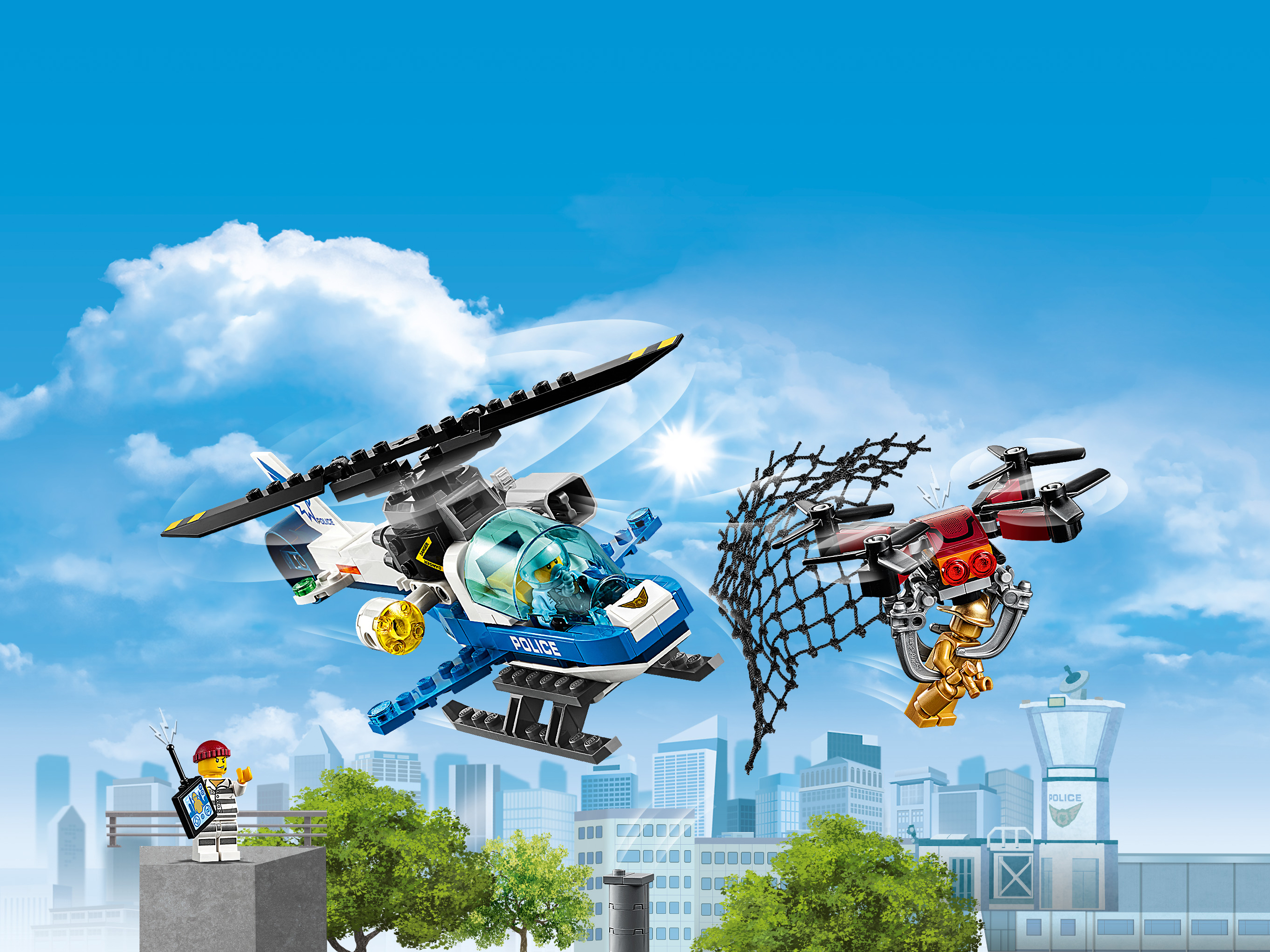 Конструктор Lego City: воздушная полиция: погоня дронов (60207 ...