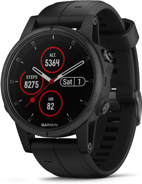 Спортивные часы Garmin Fenix 5S Plus Sapphire Black with Black Band (010-01987-03)