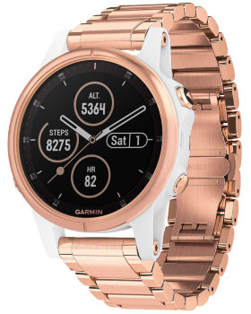 Спортивные часы Garmin Fenix 5S Plus Sapphire White with Rose Gold-tone Metal Band (010-01987-11)
