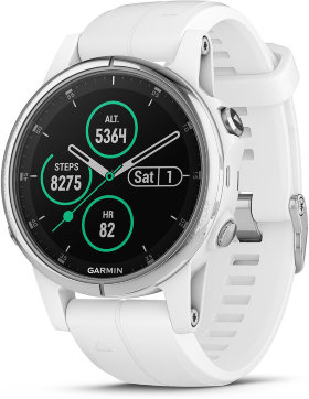Спортивные часы Garmin Fenix 5S Plus Sapphire White with White Band (010-01987-01)