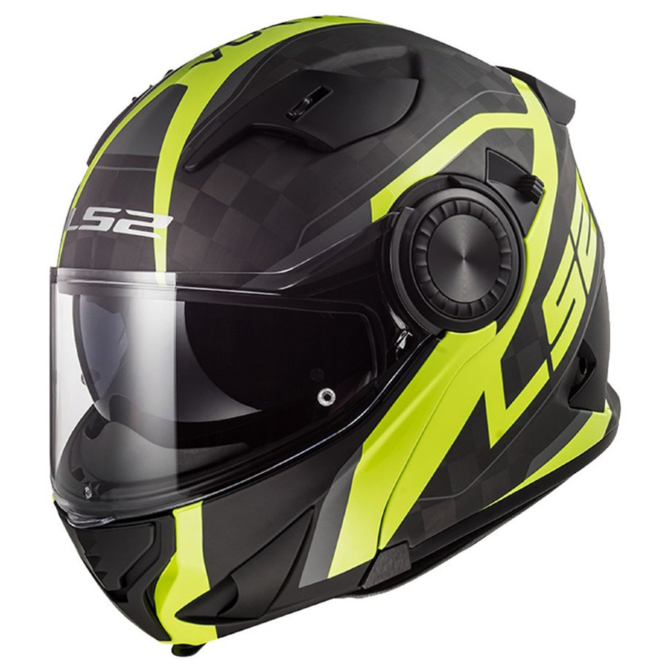 Мотошлем LS2 FF313 Vortex Frame Carbon Yellow