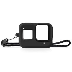 Силиконовый чехол MSCAM Protective Silicone Case + Wrist Strap For GoPro Hero 8 Black