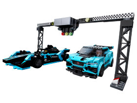 Конструктор Lego Speed Champions: Formula E Panasonic Jaguar Racing GEN2 car & Jaguar I-PACE eTROPHY (76898)