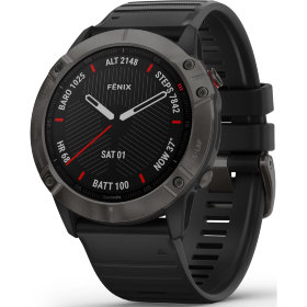 Спортивные часы Garmin Fenix 6 Sapphire Carbon Gray DLC with Black Band