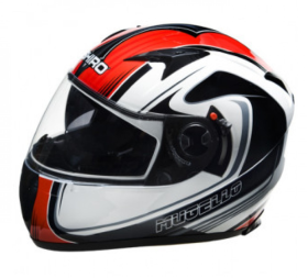 Мотошлем SHIRO SH 3700 Mugello Black/White/Red L