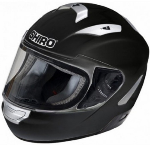 Мотошлем SHIRO SH-7000 Monocolor Black XL