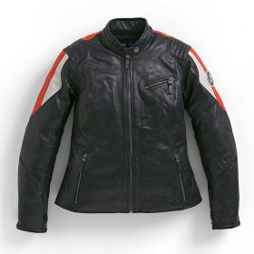 Мотокуртка женская BMW Motorrad Jacket Club Leather Black/Red