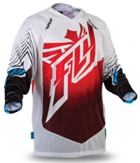Мотоджерси Fly Racing Hydrogen Jersey Red/White