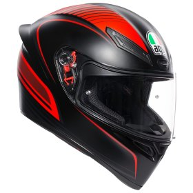 Мотошлем AGV K1 Warmup Matt Black/Red