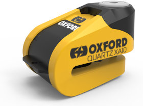 Замок с сигнализацией Oxford Quartz XA6 Disc Lock Yellow/Black (LK215)
