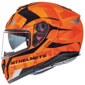 Мотошлем MT Helmets Atom SV Divergence G1 Gloss Fluor Orange