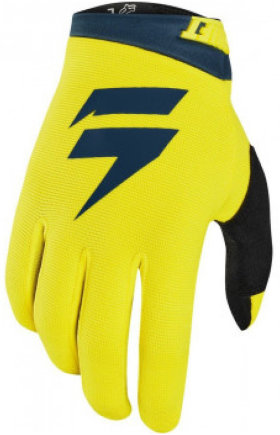 Мотоперчатки Shift Whit3 Air Glove Yellow/Navy