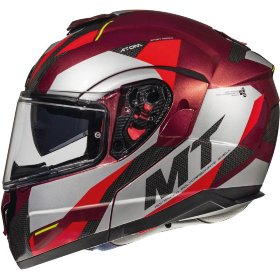 Мотошлем MT Helmets Atom SV Transcend Gloss Red/Grey/Black