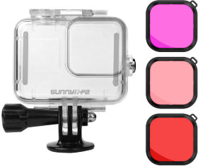 Набор для воды SunnyLife Waterproof Case with Diving Filters for GoPro Hero 8 (GO-Q9262)