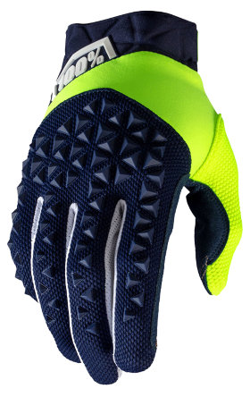 Мотоперчатки Ride 100% Airmatic Glove Navy/Fluo Yellow