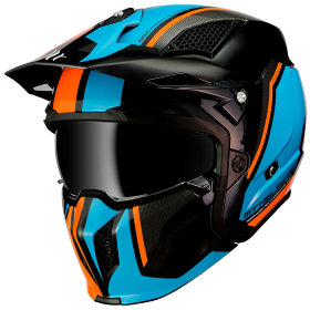 Мотошлем MT Helmets Streetfighter SV Twin Black/Blue/Orange