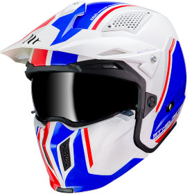 Мотошлем MT Helmets Streetfighter SV Twin White/Blue/Red