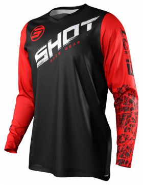 Мотоджерси Shot Racing Slam Line Kid Red