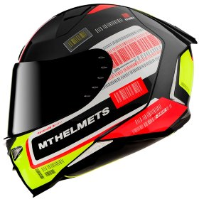Мотошлем MT Helmets Revenge 2 RS Gloss Pearl Black/White/Yellow