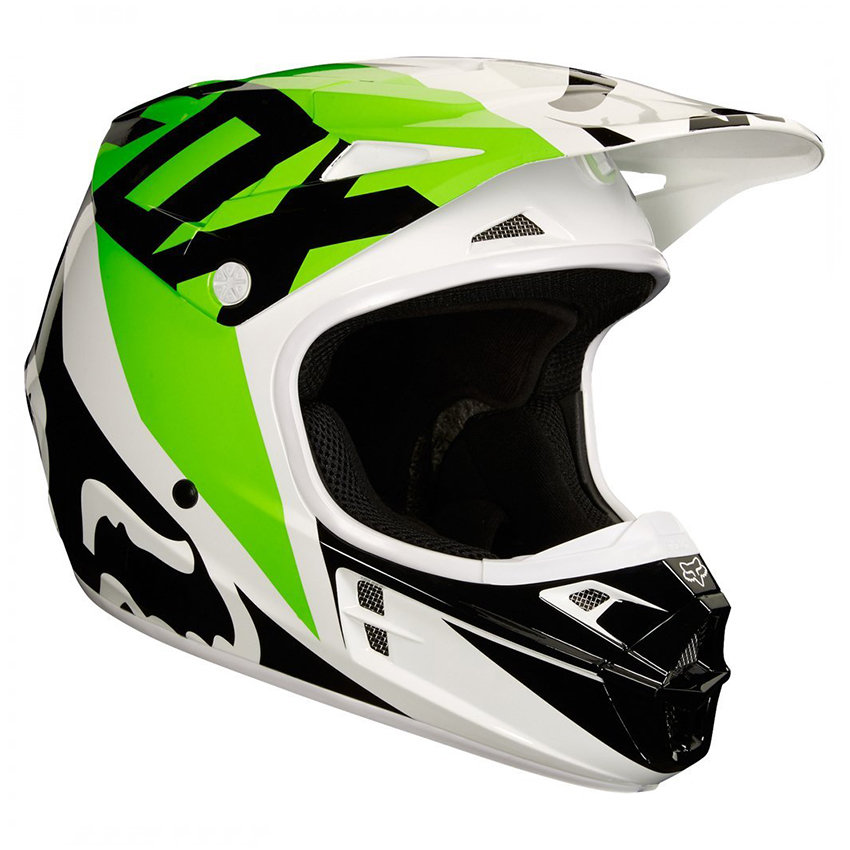 Мотошлем Fox V1 Sayak Helmet Ece White-Black/Green