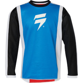 Детская мотоджерси Shift Youth Whit3 Race Jersey 2 Red/Blue