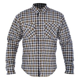 Моторубашка Oxford Kickback Shirt Checker Brown/Khaki/White
