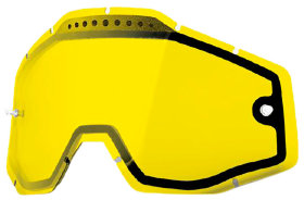 Линза к очкам Ride 100% Racecraft/Accuri/Strata Vented Dual Pane Lens Anti-Fog Yellow (51006-004-02)