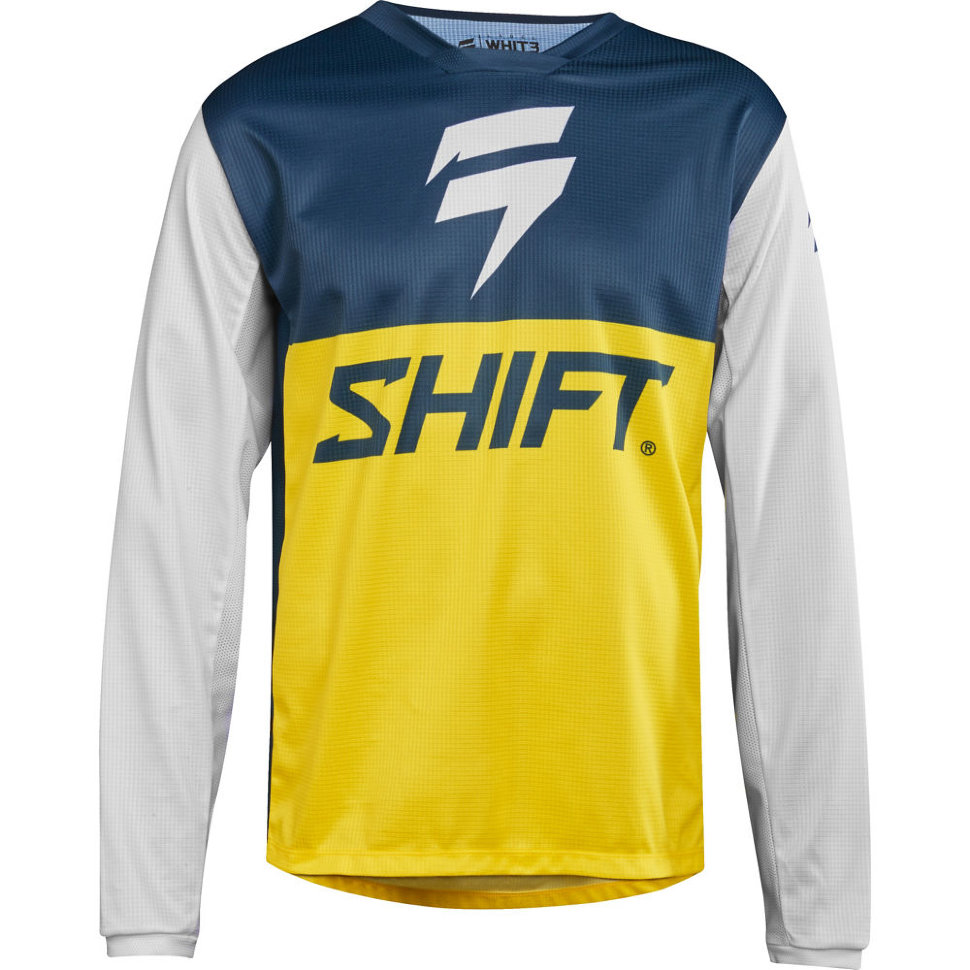 Мото джерси Shift Whit3 Label GP LE Jersey Navy/Yellow