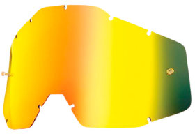 Линза к очкам Ride 100% Racecraft/Accuri/Strata Replacement Lens Anti-Fog Gold Mirror/Smoke (51002-009-02)