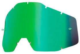 Линза к очкам Ride 100% Racecraft/Accuri/Strata Replacement Lens Mirror Anti-Fog Green (51002-005-02)