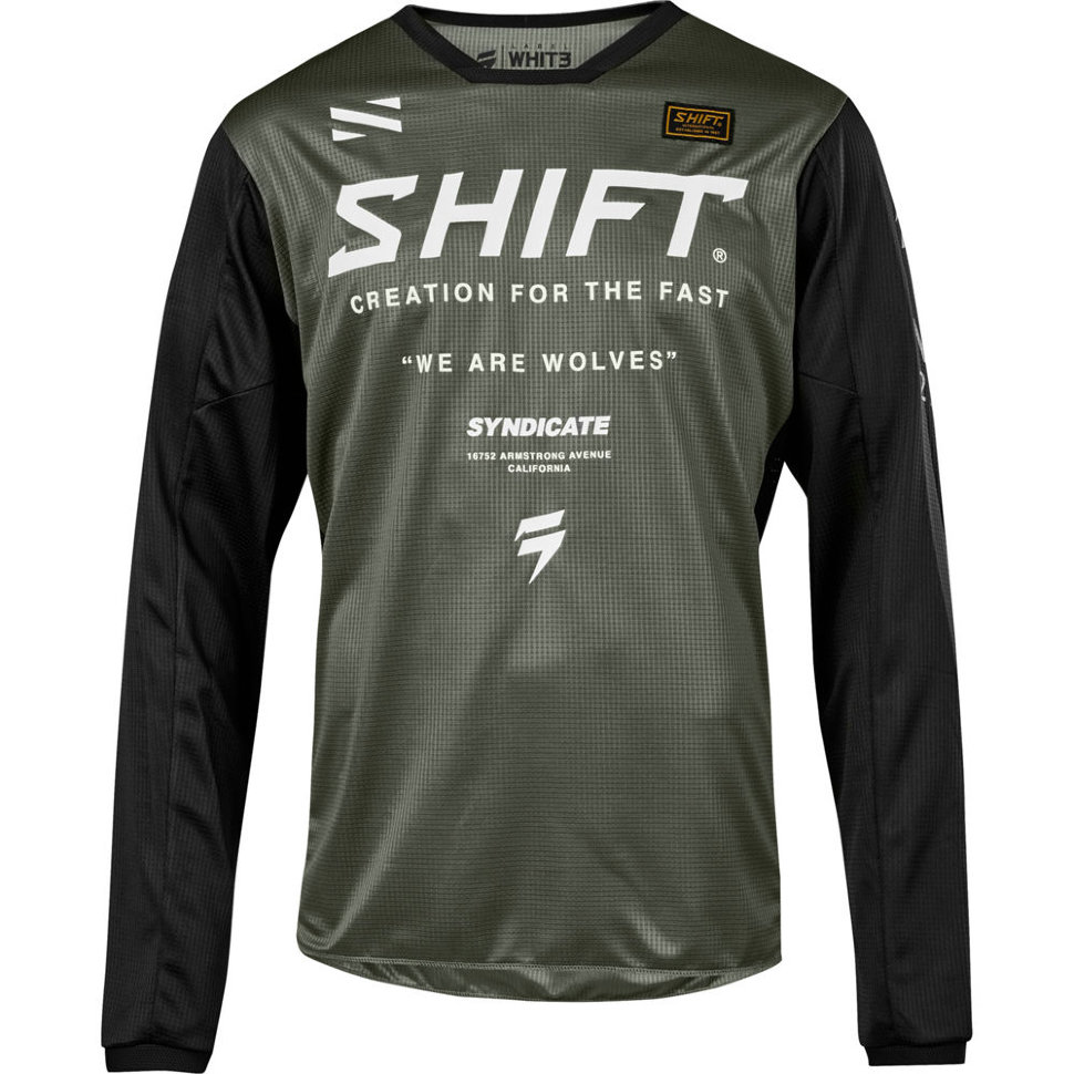 Мото джерси Shift Whit3 Muse Jersey Smoke