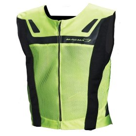 Светоотражающий жилет Macna Reflective Vest Vision4All Black/Light Green