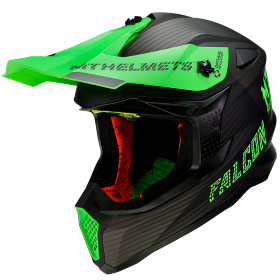 Мотошлем MT Helmets Falcon System Black/Green