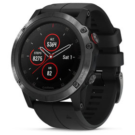 Спортивные часы Garmin Fenix 5X Plus Sapphire Black with Black Band (010-01989-01)