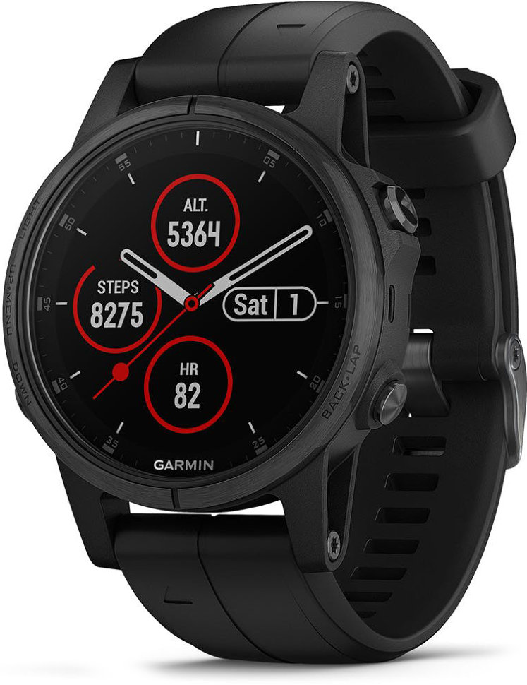 Спортивные часы Garmin Fenix 5 Plus Sapphire Black with Black Band (010-01988-01)