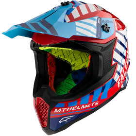 Мотошлем MT Helmets Falcon Energy Blue/Red/White