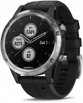 Спортивные часы Garmin Fenix 5 Plus Silver with Black Band (010-01988-11)