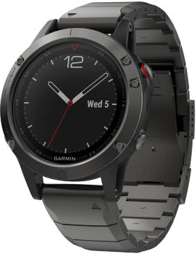 Спортивные часы Garmin Fenix 5 Plus Sapphire Titanium with Titanium Band (010-01988-03)