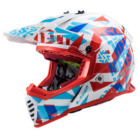 Мотошлем LS2 MX437 Fast Evo Funky Red/White